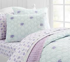 Girls Quilted Bedding by Stella Elephant Quilt Pottery Barn Kids