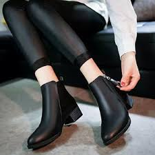 zipper boots s s fashion ankle low heels boots autumn winter zipper