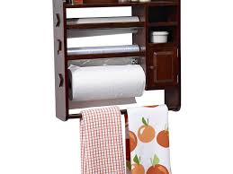 useful wood stack kitchen towel rack with small shelves magnetic