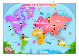 Seven Continents Map 114 Best Terre Images On Pinterest Continents Montessori And World
