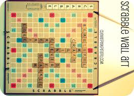upcycled diy scrabble wall art for the craft room office clever