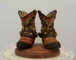 cowboy cake topper wedding cake topper his and western cowboy boots
