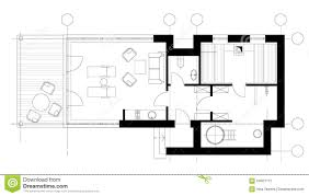 sauna plan view with standard furniture symbols stock vector