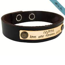 Personalized Engraved Bracelets Engraving Ideas For Him Personalized Leather Bracelet Grooms Gift