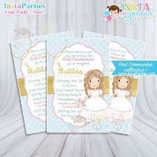 communion invitations for girl communion invitations girl invitation party invites digital