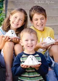 mini ghost pumpkin cakes ashlee marie