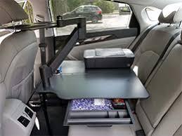 mobile laptop desk for car cargo desk ergonomic back seat car desk with articulating arm