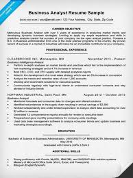 Business Analyst Objective In Resume Systems Analyst Resume Samples Business Systems Analyst Resume
