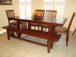 Cherry Wood Dining Room Tables by Dining Set With Bench Seat Jamesbit Design Dining Room Dining Room