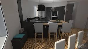cuisine moderne en u cuisine moderne gris anthracite mat et bois massif