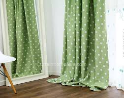 Polka Dot Curtains Panel Curtains For Blackout In Green Polka Dot Style