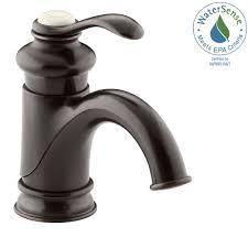 kohler bathroom sink faucets single hole kohler fairfax single hole single handle mid arc bathroom vessel
