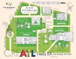 Atl Map Createatl Woodruff Arts Center On Behance