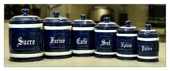 french english metal canister set