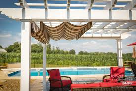 retractable pergola canopies classy poolside shade cover design idea