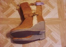 s heel boots size 11 s rust buckle wedge heel boots size 11 ebay