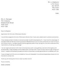 removals worker cover letter example u2013 cover letters and cv examples