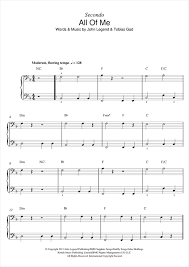all of me sheet by legend piano duet 122673