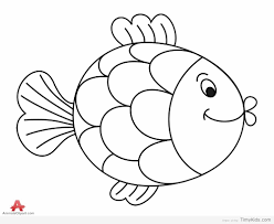 30 fish outline coloring pages for kids timykids