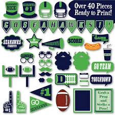 Seahawks Decorations Seahawks Football Photo Booth Props And Party Decorations