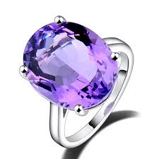 amethyst rings vintage images Vintage solitaire 9 99 ct oval purple amethyst engagement ring 18k jpg