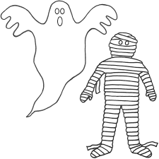 mummy clipart halloween coloring page pencil and in color mummy