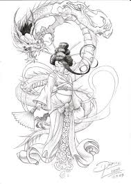 japanese geisha tattoo tattooimages biz