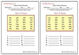 vowels worksheets aussie childcare network