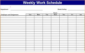 Employee Scheduling Excel Template 6 Excel Work Schedule Template Outline Templates