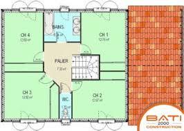 plan maison etage 4 chambres 1 bureau plan maison a etage 100m2 13 plan maison rectangle 4 chambres redz