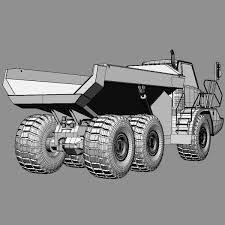 3d model articulated dump truck 740 cgtrader