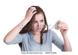 looking with grey hair woman looking first grey hair on stock photo 398741596 shutterstock