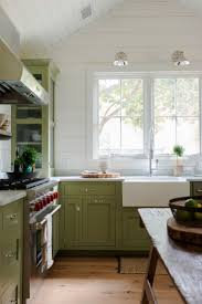 Kitchens With Green Cabinets by Best 25 Olive Green Kitchen Ideas On Pinterest Olive Kitchen