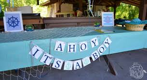 it s a boy baby shower ahoy it s a boy nautical baby shower is sweet as a