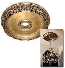 Bronze Ceiling Medallion by Wishihadthat Round Dish Ceiling Medallion Faux Gold Plated