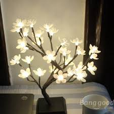2018 new promotion outdoor mini plum blossom led flower tree