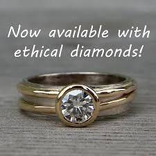 14k palladium white gold conflict free diamond engagement ring lab created diamond