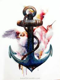 illustration inspiration anchor tattoos tattoo and humming birds