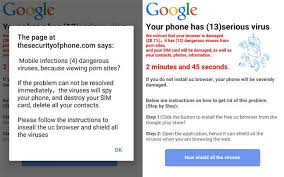 android popup your android phone never click yes on this pop up