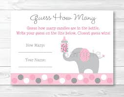 baby shower guessing pink elephant guess how many baby shower instant
