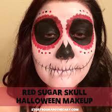Sugar Skull Halloween Makeup Dia De Los Muertos Red Sugar Skull Makeup Storybook Apothecary