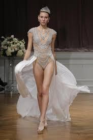 bridal designer bridal designer alon livne crosses swimsuit with bejewelled