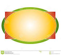 artsy colors oval logo label stock illustration image 3234578