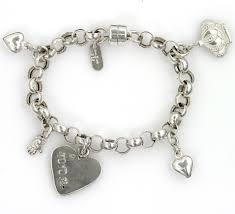 silver bracelet with charms images Silver charms bracelet yoyo32 jpg