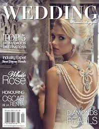 wedding planner magazine on the cover of the wedding planner magazine oudalova events