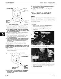 lx176 pedal height adjustment need help mytractorforum com