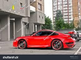 turbo porsche red techart porsche 911 turbo gt street stock photo 614694131