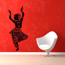 indian woman wall decals belly dance girl dancer gym dance zoom