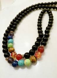 black agate necklace images 7 chakra necklace black agate beads 8mm world of chakra wellness jpg