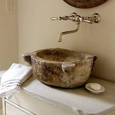 antique bowl sink transitional bathroom jennifer davis